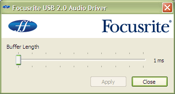 focusrite scarlett 2i2 driver windows xp